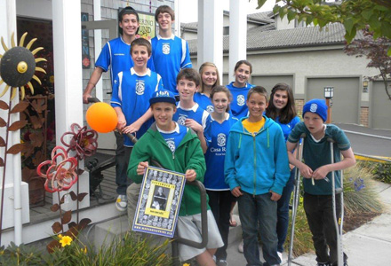 Bainbridge High School soccer team supports cancer warrior teammate
