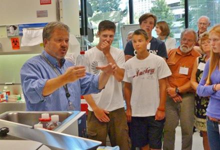 Jensen Lab tour by Junior Board members