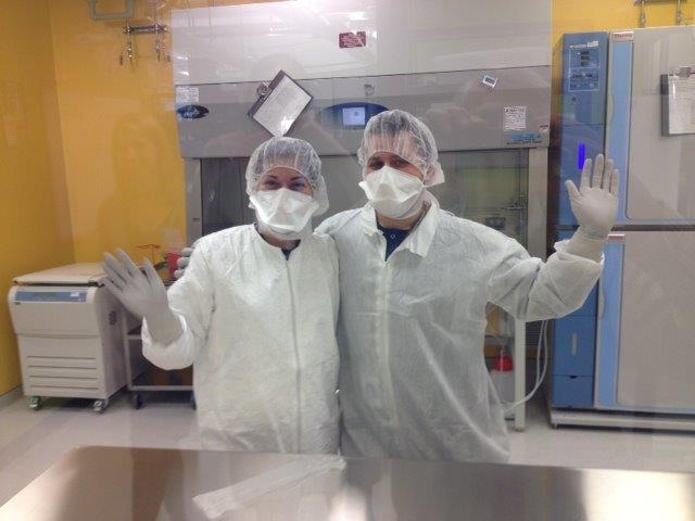 Research techs at the Jensen Lab, Ben Towne Center for Childhood Cancer Research at Seattle Children's Hospital Research Institute.