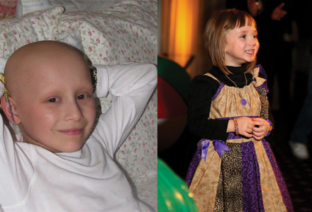 Lilly and Gia, cancer warriors