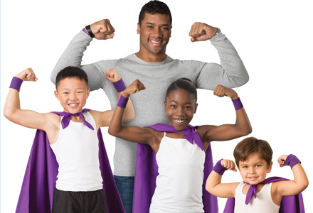 Russell Wilson and kids, Strong Against Cancer